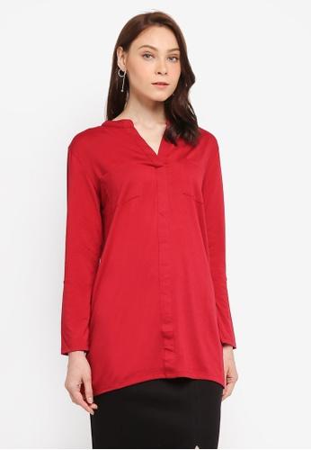 Zariya red Tunics C3E49AA2C464B4GS_1