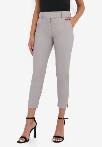 FORCAST grey Josie Cropped Notch Pants 45A1BAAE486C69GS_1