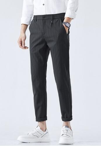 Trendyshop black Stripe Slim Suit Pants ACF5AAABBB76A4GS_1