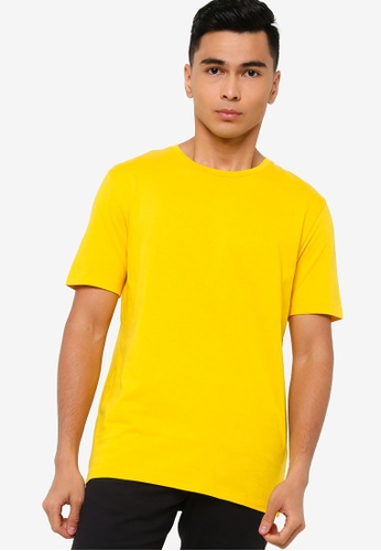 BOSS yellow Lecco 80 Tee - Boss Body 82FC6AAD1804ADGS_1