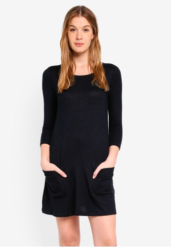 Abercrombie & Fitch black Ro Cozy Swing Dress With Pockets 9CBB2AAC1F048DGS_1