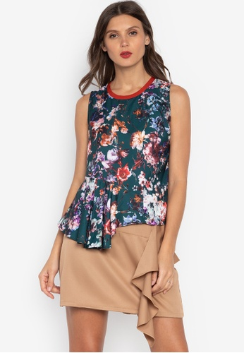 f2737d3812c5 Shop Plains   Prints Gayle Sleeveless Top Online on ZALORA Philippines