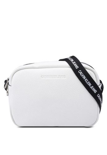 Calvin Klein white Double Zip Crossbody Bag 42793AC3E3138BGS_1