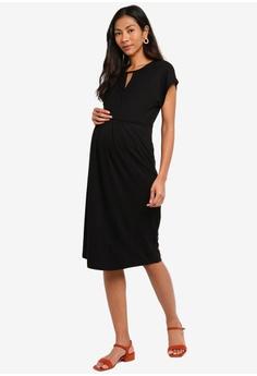 9178958e 20% OFF JoJo Maman Bébé Maternity And Nursing Keyhole Pleated Dress HK$  699.00 NOW HK$ 558.90 Sizes S M L