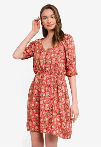 Compania Fantastica multi Leopard Print Short Dress AC2B4AAD666343GS_1