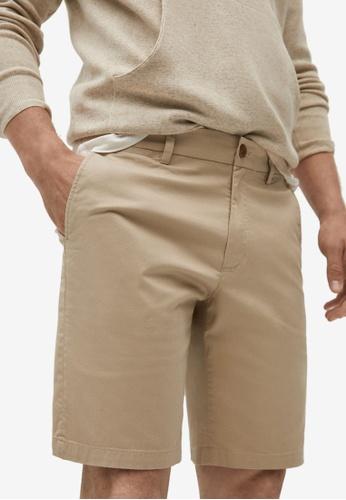 MANGO Man 米褐色 Chino 百慕達短褲 CEE92AA47C8EB9GS_1