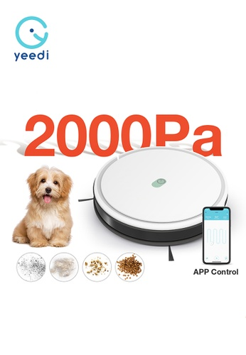 Yeedi white Yeedi K650 Robot Vacuum Cleaner - 2-in-1 Suction and Mop Robot with 2000Pa Suction Power, 3 cleaning modes and Self-Charging 557A2ES348A67DGS_1