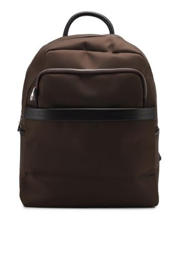 ZALORA brown Waterproof Backpack E40A7ZZED9269FGS_1