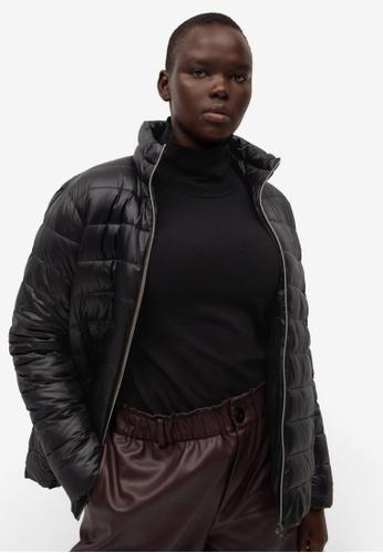 Violeta by MANGO black Pocket Quilted Jacket 6BE2BAA7BA7001GS_1