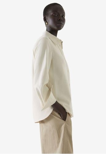 COS white Shrunken Denim Shirt AE888AA4587810GS_1