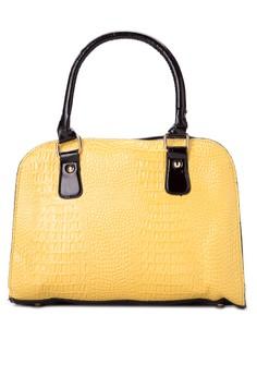 Claudia Croco Shoulder Bag