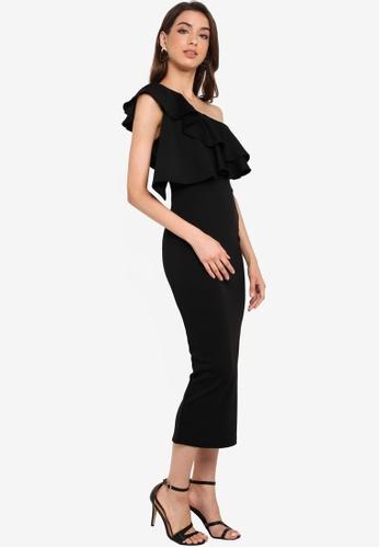8bab0ffbd Buy MISSGUIDED One Shoulder Ruffle Bodycon Midi Dress Online ...