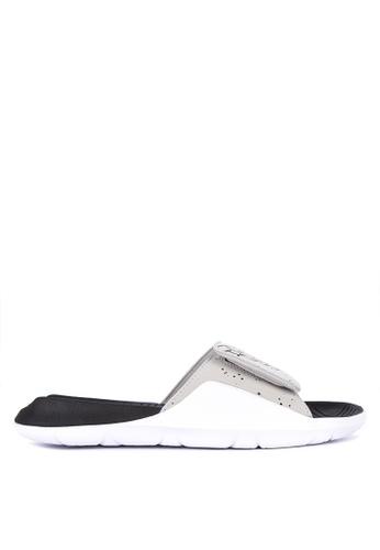 Nike black and grey and white Men's Jordan Hydro 7 Slides 232BDSH5E81055GS_1