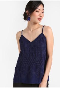【ZALORA】 Premium 刺繡背心上衣