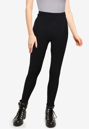 MISSGUIDED black Petite Basic Jersey Leggings 56326AAE4565F4GS_1