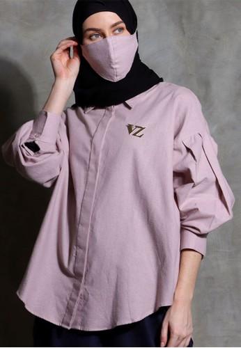 Vivi Zubedi pink Linen plain shirt 01802AA19E12F2GS_1