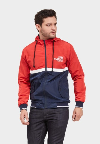 Born And Blessed red Jacket Brava Parasut 8D165AAC8F25A2GS_1