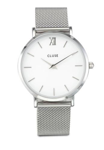 CLUSE silver Minuit Mesh Silver/White CL977AC0SA2SMY_1
