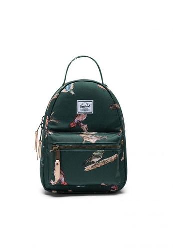 Herschel green Backpack Nova Mini Birds Of Dark Green Birds 8E8FBACD0CBE6EGS_1