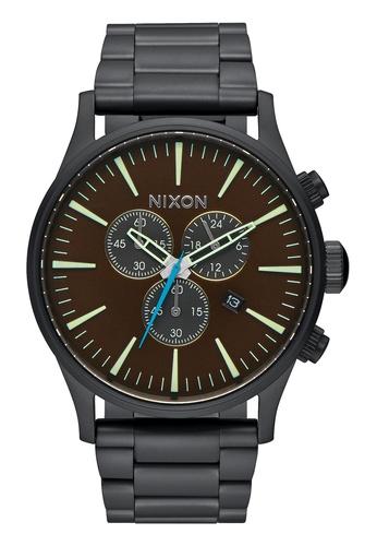 Nixon black and brown Nixon - Sentry Chronograph Black/Brown Watch NI855AC60EBJSG_1