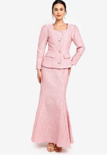 Zalia pink Square Neck Kurung 1FAA6AABCCC965GS_1