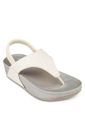 夾腳繞踝厚esprit童裝門市底涼鞋, 女鞋, 拖鞋