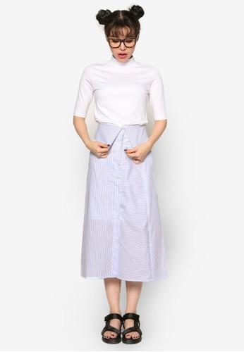 細條紋及膝短裙, 服esprit outlet 香港飾, 牛仔褲