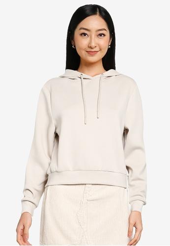 ONLY beige Joy Long Sleeve Hoodie 3C93FAA4853A76GS_1