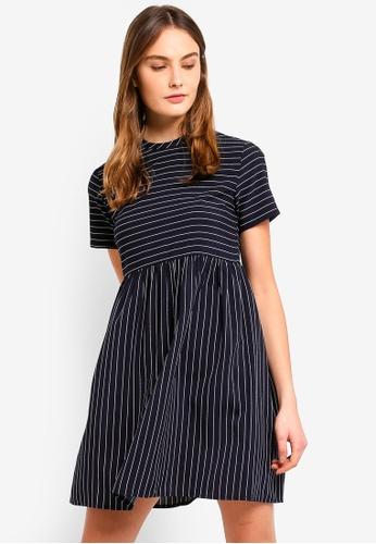 ZALORA BASICS multi Basic Babydoll Dress With Contrast Stripes FDFCBAA69CD646GS_1
