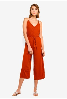 4a58d1cf1ab832 Cotton On red Woven Jojo Strappy Jumpsuit 2714BAAEF347F0GS 1