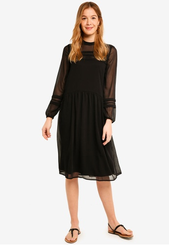 Vero Moda black Empire Long Sleeve Dress 16C49AA3DABB1AGS_1