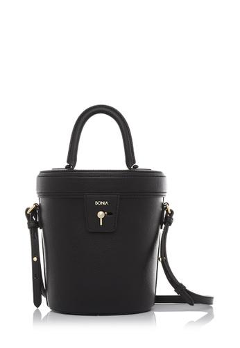 BONIA black Mysterious Black Audrey Bucket Bag BO777AC01LZQMY_1