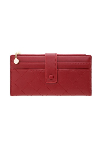 Tracey red Tracey Small Button Long Wallet 7AC56ACD785DBAGS_1