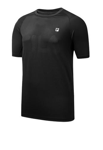 FILA black Athletics Collection F-box Logo T-shirt 28048AADAF363DGS_1