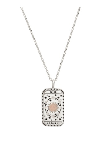 Wanderlust + Co silver Le Soleil Silver Tarot Necklace 837C6ACD60CA46GS_1