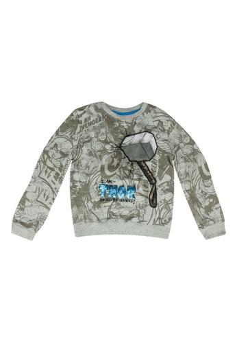 Desigual grey Thor Sweatshirt 23BCAKA5964537GS_1
