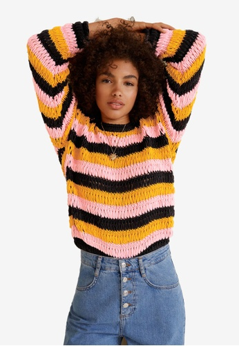 MANGO multi Oversize Crochet Sweater 19E7EAAC2E2839GS_1