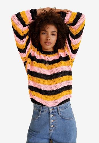 Mango multi Oversize Crochet Sweater 19E7EAAC2E2839GS_1