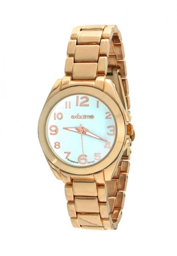 Dooka orange and gold Exactime Singapore Design Women's Stainless Steel Strap Watch H0627  DO079AC16MCDPH_1