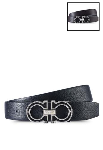 Ferragamo black Gancini Reversible Belt (zt) 9ED99AC43DB743GS_1