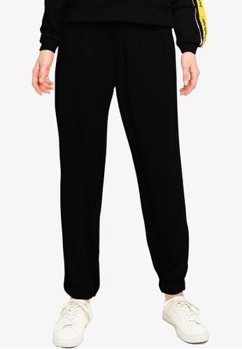 LC Waikiki black Elastic Waist Jogger Trousers E55D5AA4647392GS_1
