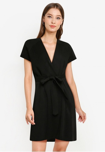 ZALORA WORK black Knitted Wrap Cardigan 16862AAA5B5404GS_1