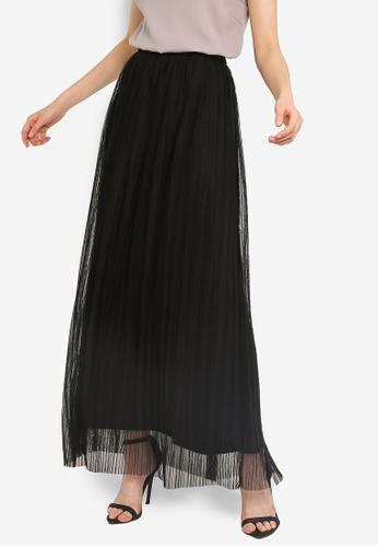 736135c2f1 Buy Lace & Beads Pleated Maxi Skirt Online on ZALORA Singapore
