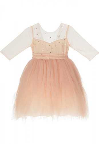 Luna Luna yellow and gold and beige Ambrosia Tulle Dress 02C78KA8211FE7GS_1