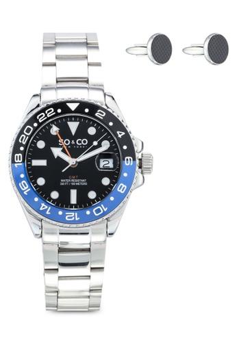 SO&CO silver Hudson 5021.3 Watch Set 0D348AC9AD9E01GS_1