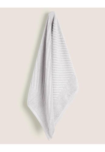 MARKS & SPENCER grey M&S Cotton Rich Plush Quick Dry Hand Towel 103FAHL9C76B01GS_1