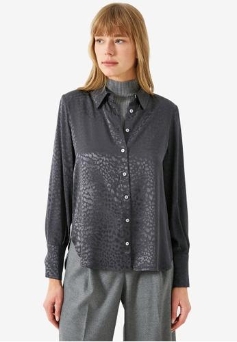 KOTON grey Casual Shirt 0B13DAA2D74A71GS_1