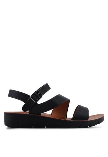 Noveni black Slingback Sandals 999F9SH8520B33GS_1
