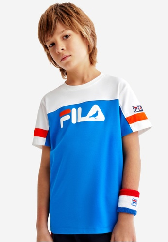 FILA white FILA KIDS FILA x STAPLE Logo Color Blacks Cotton T-shirt 8-15yrs AE021KAEA7D0DEGS_1