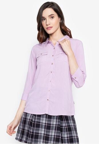 "Bossini Ladies pink Woven Plain Rayon 3/4"" Sleeves Polo 06F84AAB3E6CE4GS_1"
